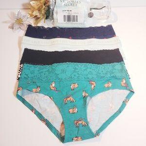 NWT, Victoria's Secret PINK 5 Hiphugger Panties